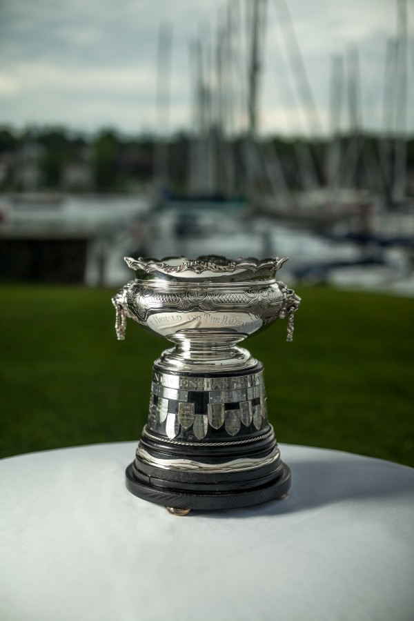 This is a silver rose bowl